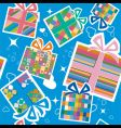 wallpaper with gift boxes vector image vector image