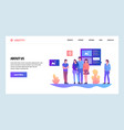 web site design template about us company vector image