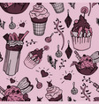 yummy things repeated on paper with ice cream and vector image