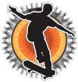 skateboarder design vector image