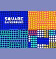 abstract geometric square pattern background set vector image