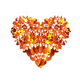 abstract heart red love symbol orange and yellow vector image vector image
