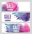 abstract paint hand drawn watercolor background vector image vector image