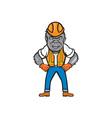 angry gorilla construction worker cartoon vector image vector image