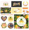 Baby Shower Tropical Theme Design Elements vector image vector image