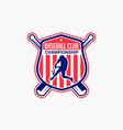 baseball logo badge-7 vector image vector image