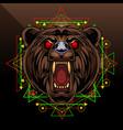 bear esport mascot logo design vector image vector image