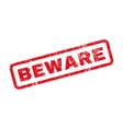 Beware Text Rubber Stamp vector image vector image