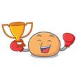 boxing winner mochi mascot cartoon style vector image vector image