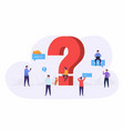 business people ask questions using laptop phone vector image vector image