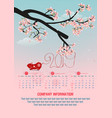 calendar 2019 and happy new year background vector image