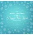 Christmas New Year card abstract snowflakes vector image vector image