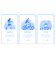 city public park infrastructure app screens vector image vector image