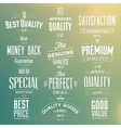 Collection of Retro Premium Quality Labels vector image vector image