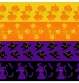 Colorful halloween seamless borders set vector image vector image