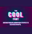 cool font set collection letters and numbers vector image