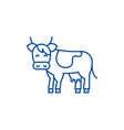 cow line icon concept cow flat symbol vector image vector image