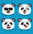 cute panda animal cartoon vector image vector image