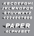 cutted paper alphabet letters vector image vector image
