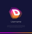 d-monogram-logo vector image