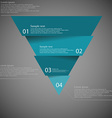 Dark inforgraphic with triangle divided to four vector image vector image
