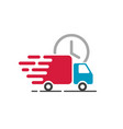 delivery truck icon cargo van moving fast vector image vector image