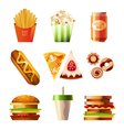 Fast food set vector | Price: 3 Credits (USD $3)