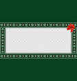 festive rectangle template for christmas with red vector image vector image