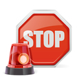 Flasher with Sign vector image vector image