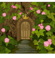 Gates of Magic Elves Castle vector image vector image