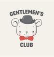 gentlemen club vector image vector image