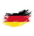 german flag grunge brush background vector image