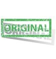 Green outlined ORIGINAL stamp vector image