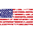 grunge American flag vector image vector image