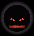 halloween evil face with a toothy maw with a halo vector image vector image