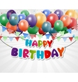 Happy Birthday Greeting Card background vector image vector image