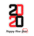 happy new year 2020 brochure design template vector image