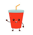 happy smiling funny cute soda vector image