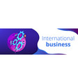 international business isometric 3d banner header vector image