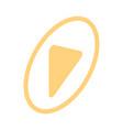 isometric video icon splash screen with arrow vector image