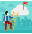 Man climbing the ladder vector image vector image