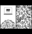 menu cover floral design with black and white vector image vector image