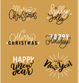 merry christmas holly jolly quote happy new year vector image vector image