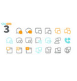 messages ui pixel perfect well-crafted thin vector image vector image