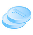 money coin icon isometric style vector image
