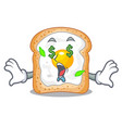 money eye sandwich with egg isolated in mascot vector image
