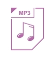 MP3 file icon cartoon style vector image vector image