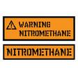 nitromethane sign label vector image