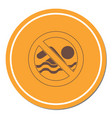no swimming prohibition sign icon vector image