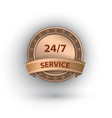 open 24 7 hours service label vector image